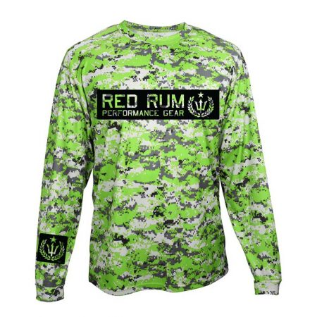 Digital Camo fishing Shirts | performance sportswear | lime green