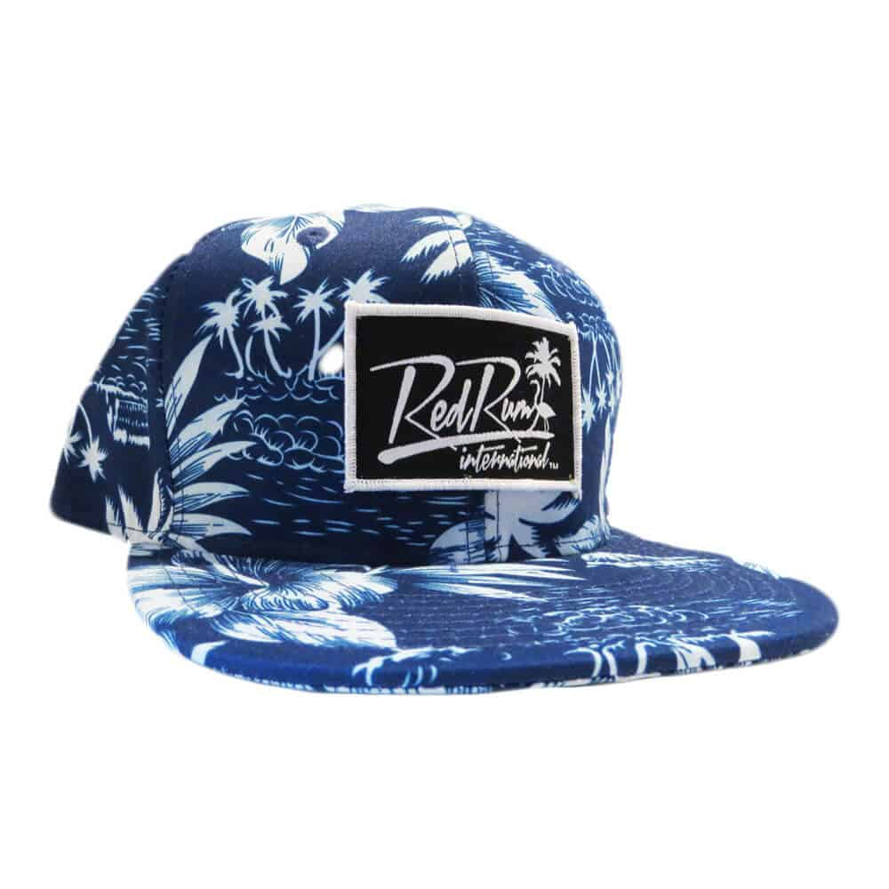 Navy Blue Floral Snapback Hat | Red Rum