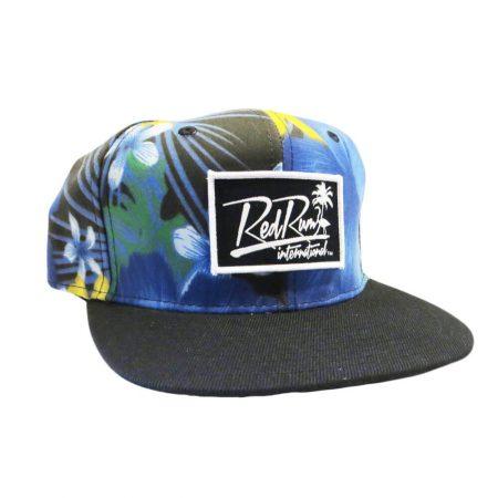 paradise-blue-floral-snapback