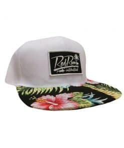 White Floral Snapback Hats