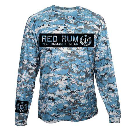 Performance shirts red rum international for Camo fishing shirts