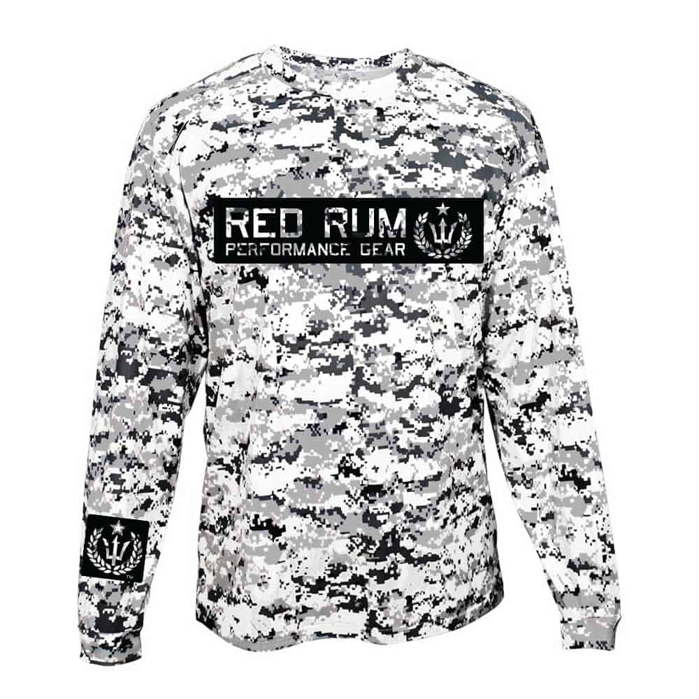 Digital Camo Fishing Shirts | upf | white