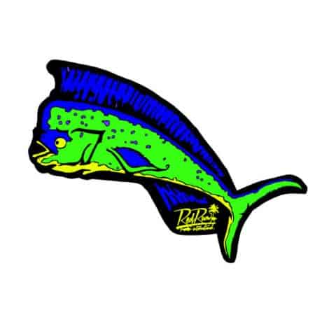 Red Rum mahi mahi Stickers
