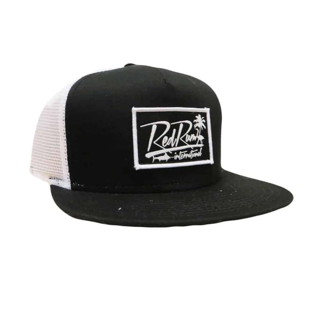 Red rum signature mesh snapbacks black trucker hats for Mesh fishing hats