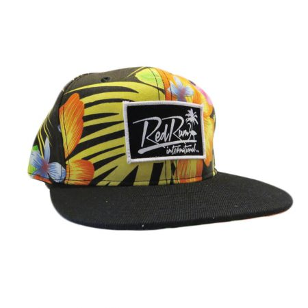 Baja California Floral Snapbacks | Black tropical hats