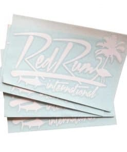 Red Rum Decal | Tropical | Fishing | Marlin | Vinyl Decals 7