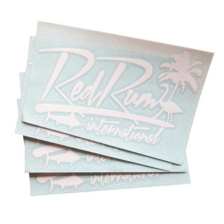 "Red Rum Decal | Tropical | Fishing | Marlin | Vinyl Decals 7"" x 4"" 