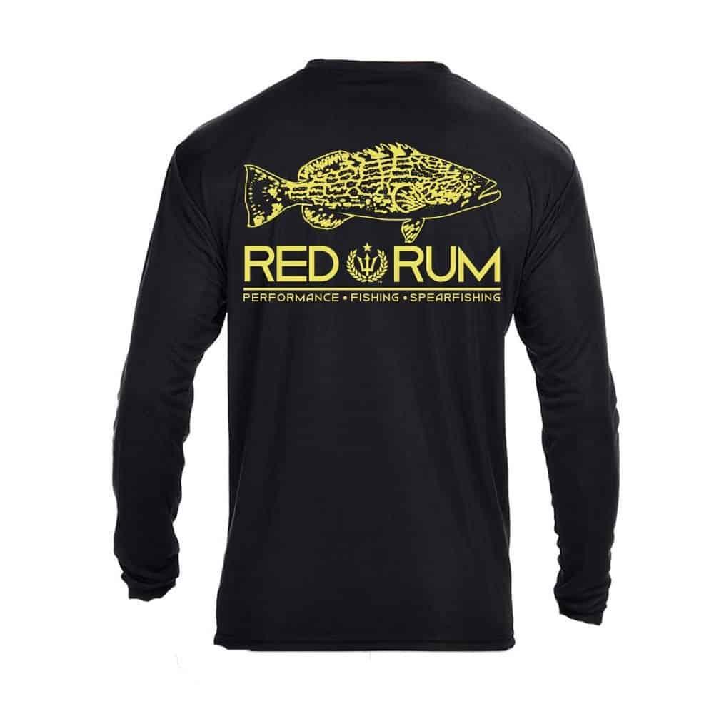 Ruler sleeve fishing shirt 2 0 black grouper fishing for Two fish apparel