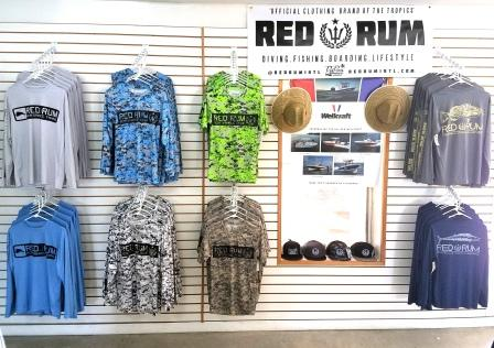 Red rum fishing shirts now available at murray marine key for West marine fishing shirts