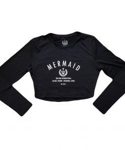 Mermaid Crop Top Black