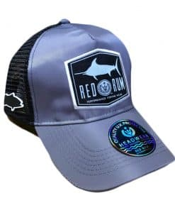 Gray Fishing Cap | Fishing Hat with Marlin