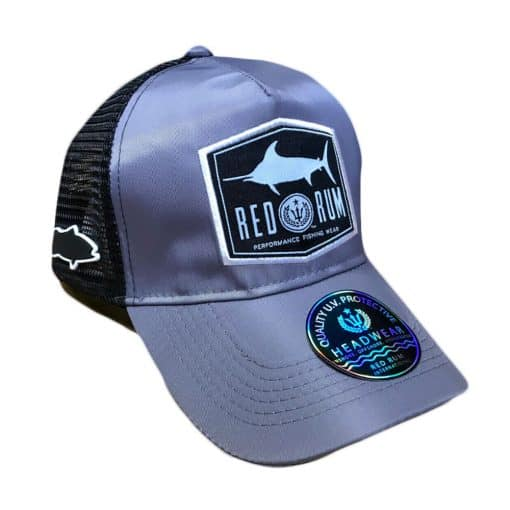 Gray Fishing Hat | Fishing Hat with Marlin