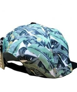 Banan leaf pattern tropical surfer hat