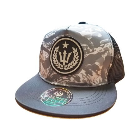 Gray Camo Fishing Hat