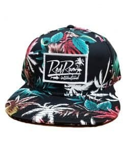 Black Tropical Snapbacks