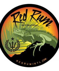 sticker with iguana - island style